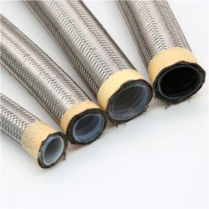 flat PTFE hose with braiding