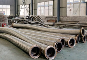 braided hose with flange