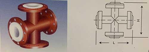 Comflex Industrial Co.,Ltd PTFE Lined four-cross steel pipe