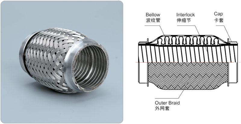 Comflex exhaust pipe with-interlock hose