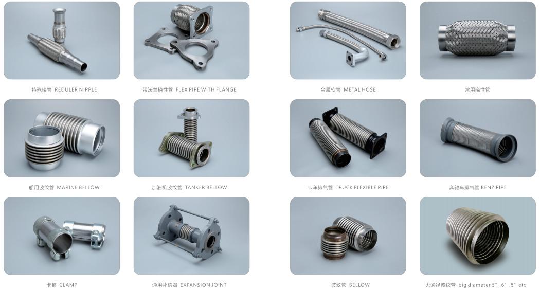 Comflex-flexible exhaust-pipe