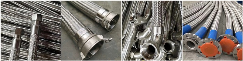 Comflex flexible metal hose with different fittings