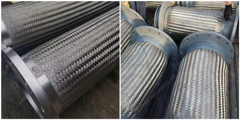 Comflex-flexible metal hose with flange